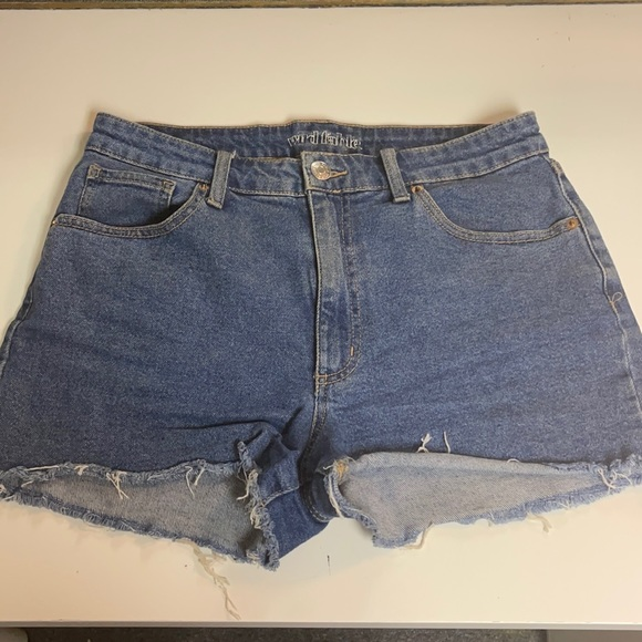 Wild Fable Jean Shorts with Fringe Cut-off Bottoms